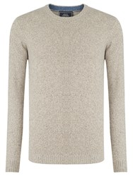 John Lewis Made In Italy Merino Cashmere Crew Neck Jumper Natural