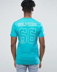 New Era Dolphins T Shirt With Back Print Green