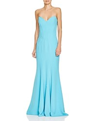Mignon Sweetheart Neck Strapless Gown 100 Bloomingdale's Exclusive Turquoise