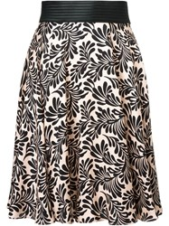 Emanuel Ungaro Floral Print A Line Skirt Pink And Purple