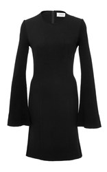Derek Lam 10 Crosby Long Sleeve Shift Dress Black