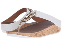 Fitflop Superchain Toe Post Urban White Women's Sandals Pink