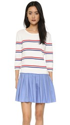 English Factory Combo Dress White Red