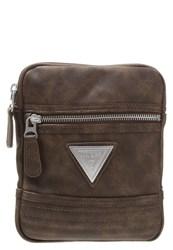 Guess Hm2281 Pol64 Across Body Bag Dark Brown
