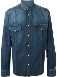 Golden Goose Deluxe Brand 'Duke' Denim Shirt Blue