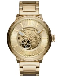 Armani Exchange Ax Men's Automatic Gold Tone Stainless Steel Bracelet Watch 49Mm Ax1417