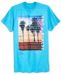 Young And Reckless Men's Graphic Print T Shirt Turquoise