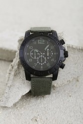 Forever 21 Men Matte Chronograph Watch Olive Black
