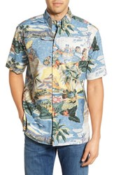 Men's Reyn Spooner 'Trans Pacific 40S' Classic Fit Wrinkle Free Shirt