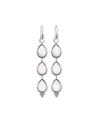 Jude Frances Sterling Amethyst Triple Teardrop Earring Charms Purple