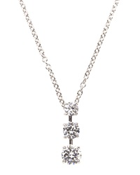 Fantasia Triple Stone Cz Pendant Necklace