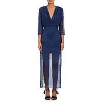 Saloni Women's Jennifer Swiss Dot Dress Navy