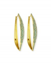 Dominique Cohen Talon 18K Yellow Gold And Blue Diamond Hoop Earrings