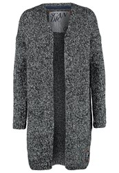 Superdry Oxelblom Cardigan Black White Anthracite