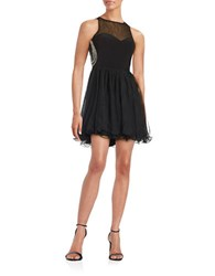 Blondie Nites Embellished Fit And Flare Party Dress Black