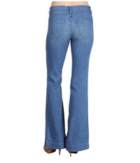 James Jeans Humphrey High Rise Flare Leg In Teal Teal Women's Jeans Blue