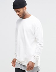 Jack And Jones Crew Neck Sweat With Pouch Pocket Detail Cloud Dancer