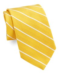 Brooks Brothers Classic Herringbone Striped Tie Yellow