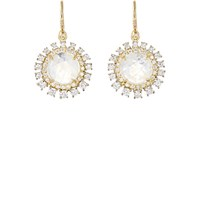 Irene Neuwirth Diamond Collection Women's White Diamond And Rainbow Moonstone Drop Earrings No Color
