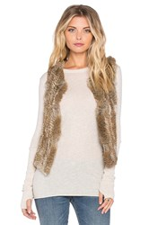 525 America Rabbit Fur Vest Brown