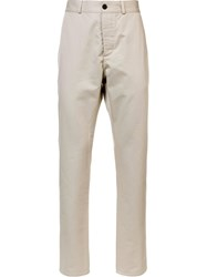 Maison Kitsune Chino Trousers Nude And Neutrals
