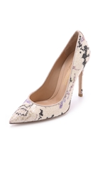Mary Katrantzou X Gianvito Rossi Floral Pumps Nude