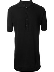 11 By Boris Bidjan Saberi Long Polo Shirt Black