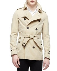Burberry The Sandringham Short Heritage Trench Coat Honey Tan
