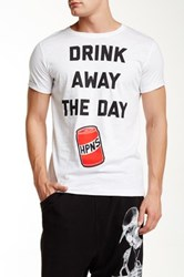 Happiness Drink Away The Day Tee White