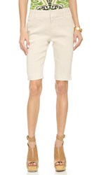 Alice Olivia Slim Fit Bermuda Shorts Natural