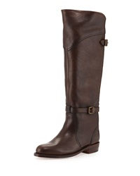 Frye Dorado Leather Riding Boot Dark Brown