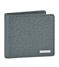 Boss Saffiano Billfold Wallet Unisex Grey