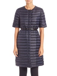 Max Mara Cube Collection Trec Quilted Jacket Midnight Blue