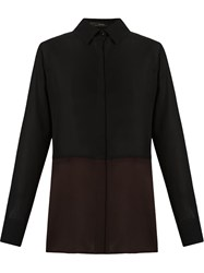Andrea Marques Classic Collar Bi Colored Shirt Black