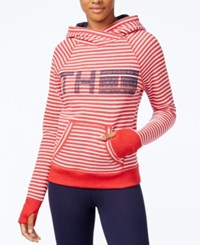 Tommy Hilfiger Striped Logo Sweatshirt A Macy's Exclusive Style Scarlet