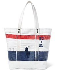 Polo Ralph Lauren Men's Striped Canvas Tote Oxford Navy
