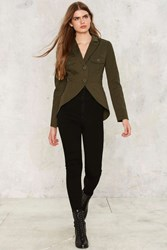 Nasty Gal Collection Battalia Military Jacket Green