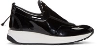 Maison Martin Margiela Black Patent Leather Sneakers