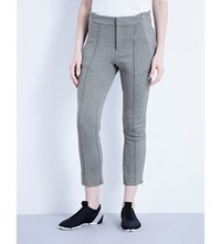 Y 3 Frost Cropped Cotton Jersey Trousers Mid Grey Heather