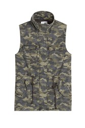 Velvet Cotton Camouflage Vest Green