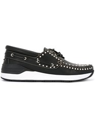 Givenchy Studded Boat Shoes Black
