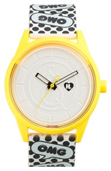 Harajuku Lovers Resin Solar Watch 40Mm Limited Edition O.M.G.