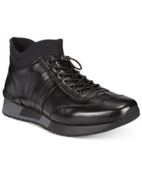 Kenneth Cole Hole In 1 Wedge High Top Sneakers Men's Shoes