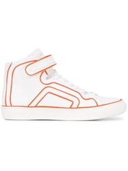 Pierre Hardy Straped Hi Top Sneakers White