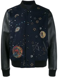 Valentino 'Astro Couture' Bomber Jacket Blue