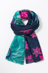 Desigual Rectangle New Danc Foulard Navy