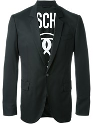 Moschino Single Button Blazer Black