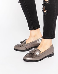 New Look Pewter Tassel Loafer