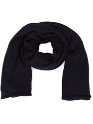 Isabel Benenato Finished Edge Scarf Blue