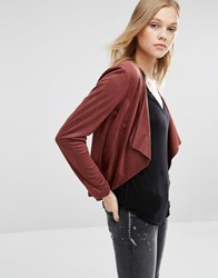 Only Faux Suede Jacket Marsala Red